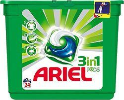 Ariel 3 in1 Schoten. Nettoyant en kapseln gießen maschine à laver. 24 kapseln