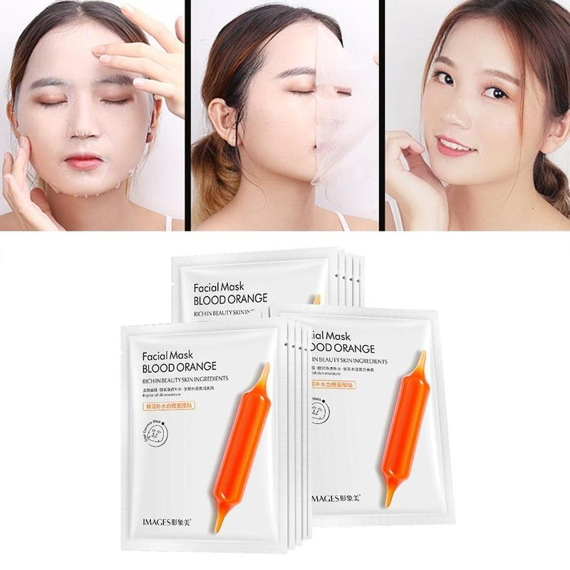 Vitamin C Orange Moisturizing Facial Mask Refreshing Fruit Extracts Face Masks Nourish Whitening Anti Aging Women Skin Care Mask