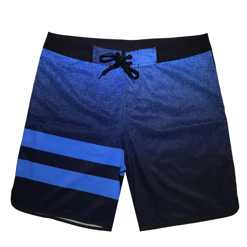 High Elastic Striped Swim Shorts Summer Beach Wear Men's Board Shorts Surf Swimwear Quick Dry Male Running Gym Shorts Plus Size