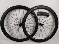Customized carbon wheels new ACE 50mm with Powerway R36 hubs 700c width 25mm rims clincher tubular wheels for Road Bike