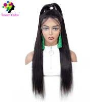 Touch 13*4 Gerade Spitze Front Menschliches Haar Perücken Für Schwarze Frauen Remy 10-30 Zoll 150% Dichte brasilianische Menschenhaar Spitze Front Perücken