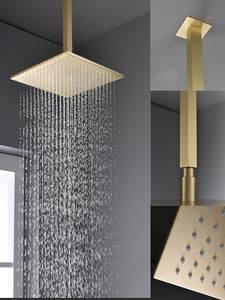 Shower-Set Faucet-Valve Ceiling with Body-Sprays And Handheld Rain-Mixer