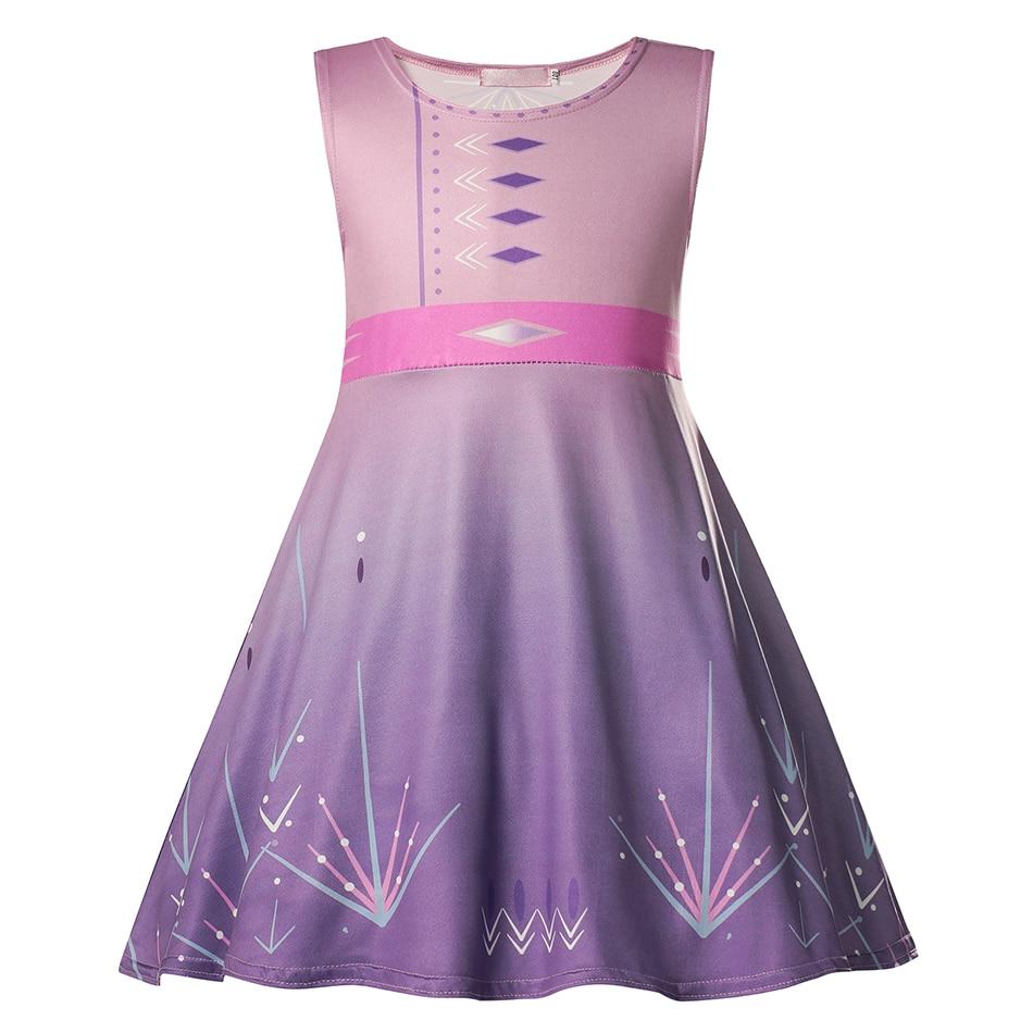 VOGUEON Baby Girl Elsa Dress Fancy Anna Halloween Birthday Party Cosplay Costumes Kids Jasmine Mermaid Dresses Girls Clothing 3