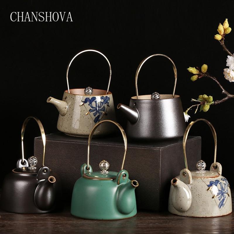CHANSHOVA Traditional Chinese Style Personality Ceramic Tea Pot Kettle 170 320ml China Porcelain Teapot Home Decoration H050 Teapots    - AliExpress