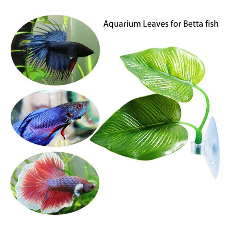 Аквариумный пейзаж искусственный лист Бетта отдых для рыб нереста декоративное растение Бетта рыбка игра расслабляющий скрытый лист гамак...
