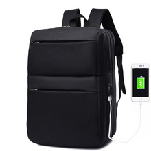 Laptop USB Charging Bag Multifunctional Shockproof Casual Business Male Backpack Nylon Waterproof Teenager Travel