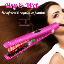 Hair Straightener Infrared Flat Iron with Adjustable Tempera