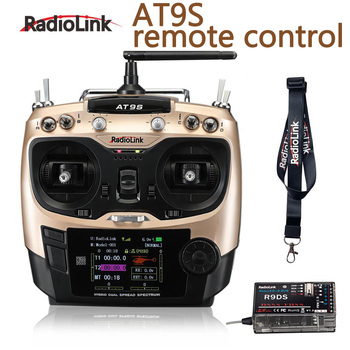 Original Radiolink AT9S System Transmitter with R9DS Receiver AT9 Remote Control update vision for RC quadcopter Helicopter free shipping radiolink at9 2 4 ghz 9 channel radio transmitter and receiver for rc hobby