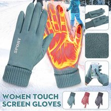 Winter Warm Gloves Women Outdoor Guantes Mittens Touch Screen Gloves Windproof Anti-slip Hand Warmer Gloves(China)