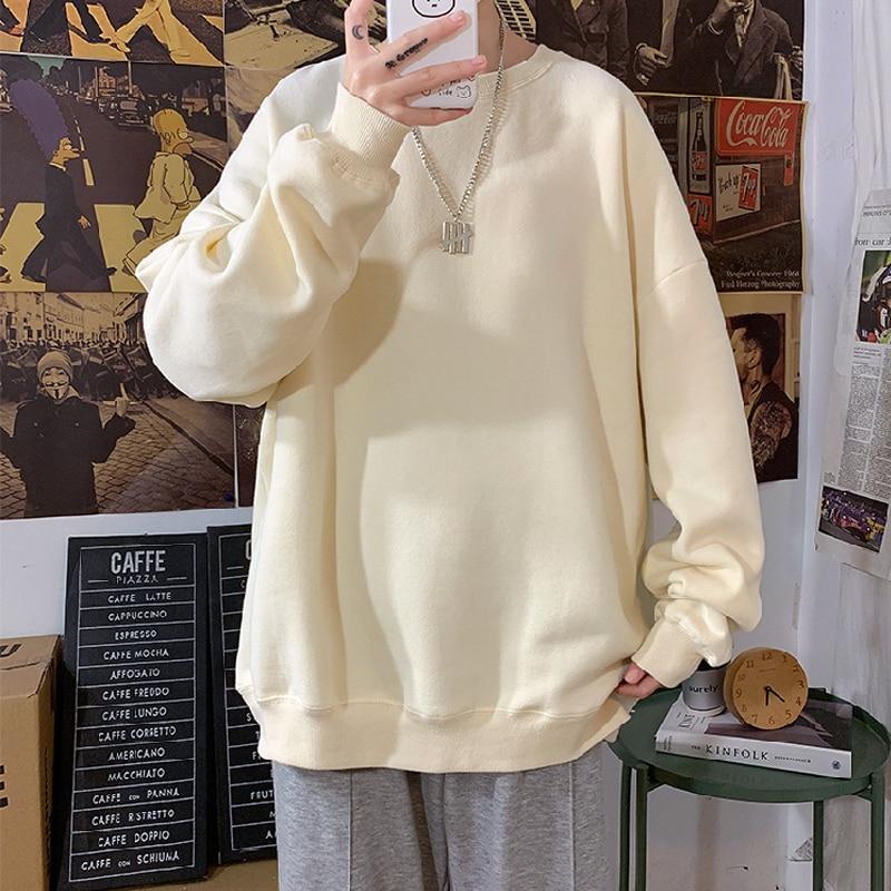 2021 outono mulher hoodies s hoodies oversize feminino solto algodão sólido engrossar quente feminino sweatshirts senhora moda mais tamanho 5xl|Agasalhos e Moletons|   -