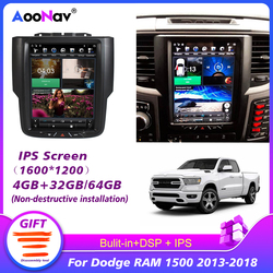 128G PX6 Car Radio For Dodge RAM 1500 2013 2014 2015 2016 2017 2018 Tesla Vertical Screen GPS Stereo Receiver Multimedia Player