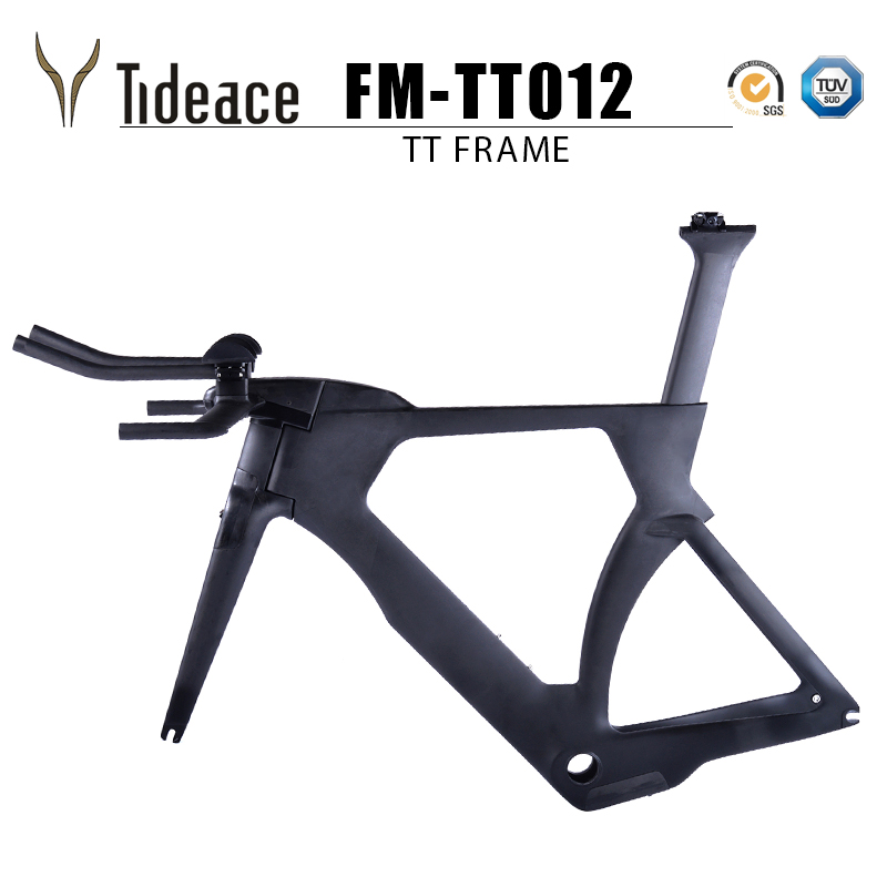 48/51/54/57cm TRP Brake Carbon Time Trial Triathlon Frame 700c Light Carbon TT Bike Frameset With Free Brake Clipers