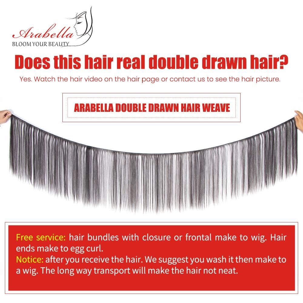 Double Drawn Bone Straight Hair  Bundles Vrigin Hair  Natural Color Thick Ends Hair Bundles Arabella Hair Bundles 5
