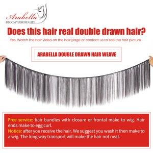 Image 5 - כפול נמשך ישר שיער Weave חבילות Vrigin הארכת שיער טבעי צבע עבה מסתיים שיער חבילות עבור לקוחות ברמה גבוהה
