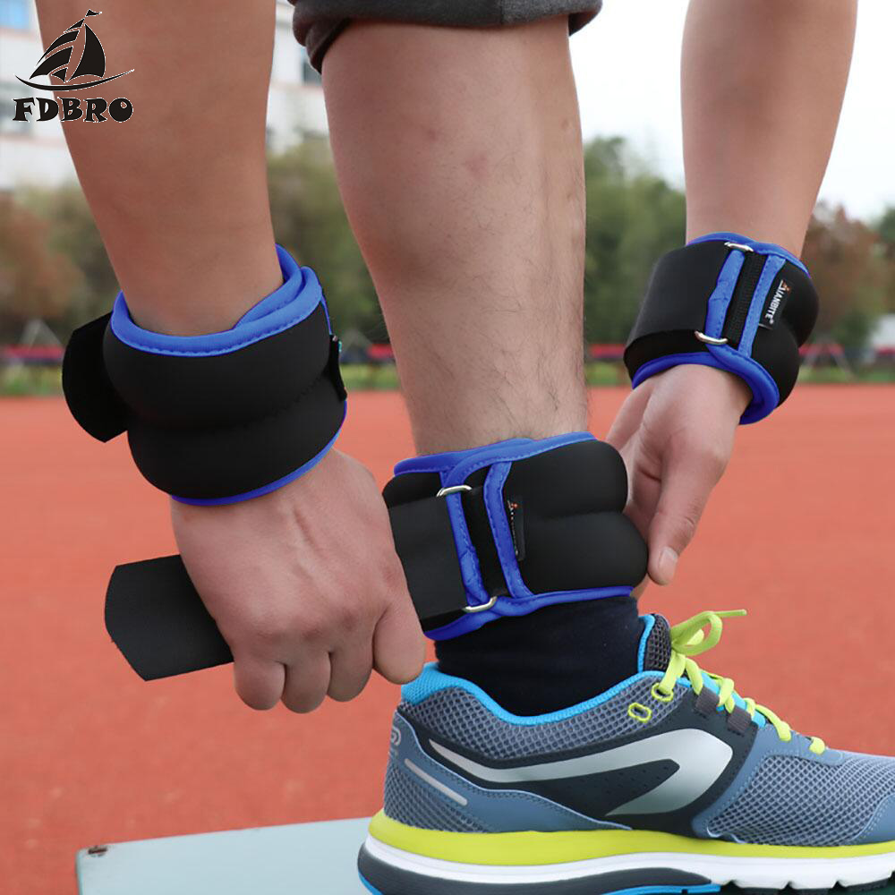 Adjustable Wrist Ankle Weights Iron Sand Bag Weights Straps with Neoprene Padding Exercise Fitness Running Sports Training Legs
