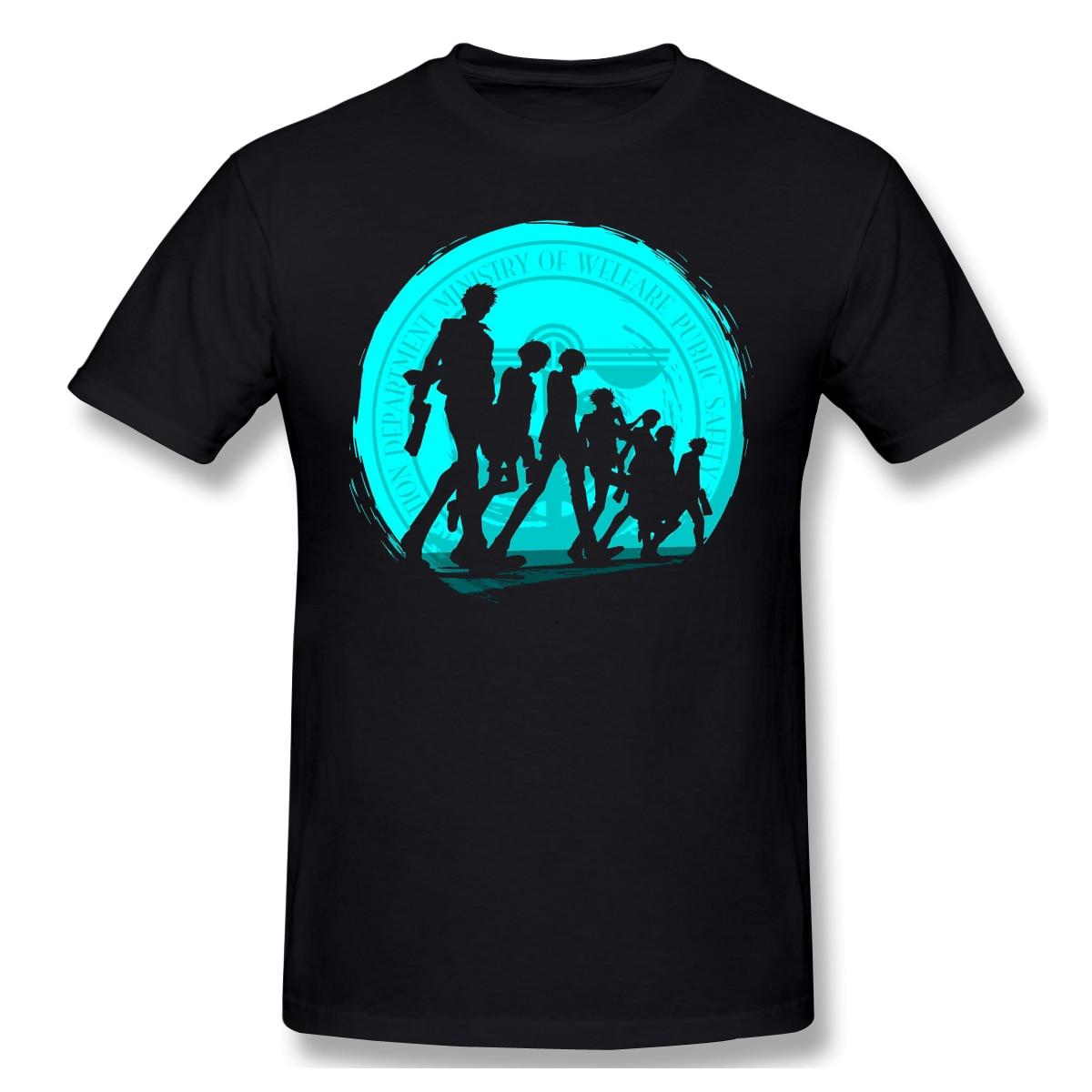 Psycho Pass estampado de moda de algodón divertidas camisetas Psycho-Pass ropa de calle de moda para hombre