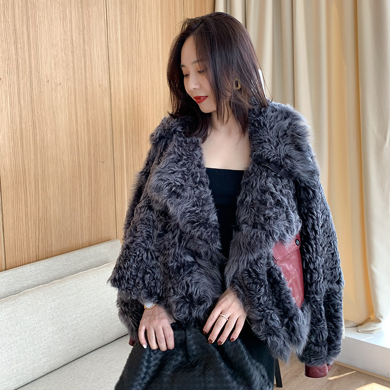 100% Natural Real Fur Coat Female Vintage Sheep Fur Jacket Winter Coat Women Clothes 2020 Korean Vintage Double-faced Top LW2637