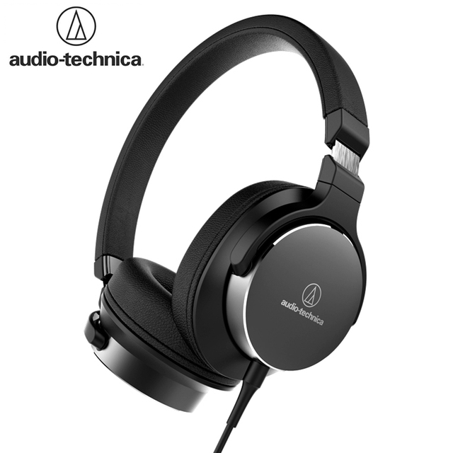 Original Audio Technica SR5 Wired Headphone Foldable Portable Sports Game Headset HD Sound Earphone 1-button Remote with Mic 1