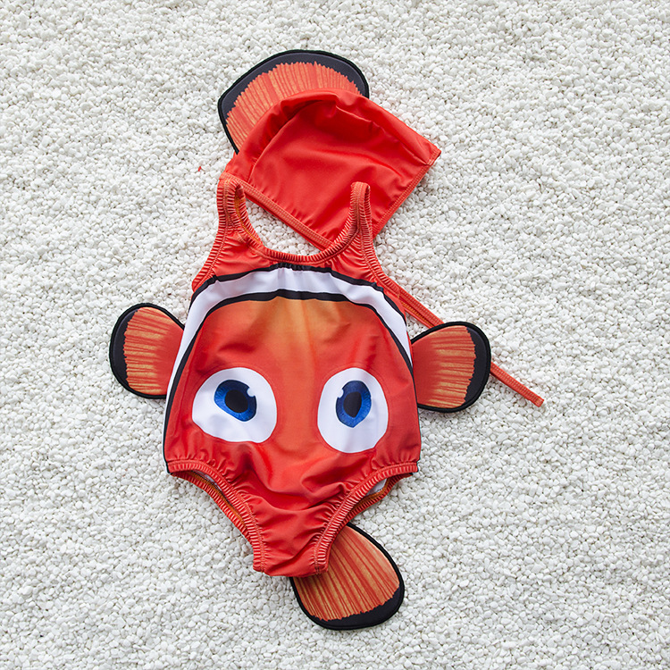New Style One-piece Swimsuit For Children Men And Women Baby Bathing Suit Swimming Suit Clownfish Small CHILDREN'S Bathing Suit