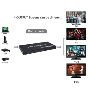 Image 5 - 4X4 HDMI 2.0 Matrix 4K 60Hz 1080p Switcher Splitter 4 Input 4 Out Converter RS232 EDID Switch for PS4 XBox PC Output to TV HDTV