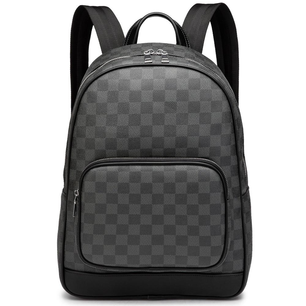 New Presbyopia Backpack Men 2020 Fall Winter Casual Fashion Shoulder Messenger Travel Plaid Large Capacity Backpack
