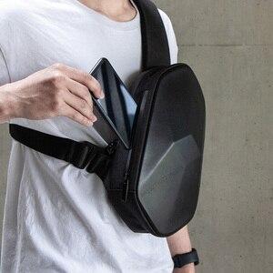 Image 4 - Xiaomi 원래 beaborn 다면체 pu 배낭 가방 방수 위장 레저 스포츠 가슴 팩 가방 남성 여성 여행