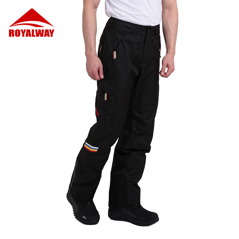 ROYALWAY Ski Pants Men Outdoot Sports Snow Snowboard Classic High Quality Windproof Waterproof Warm Ski Trousers RFJM4503G