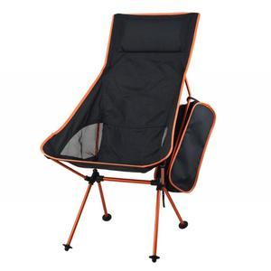 Image 4 - Taşınabilir katlanabilir ay sandalye sağlam uygun Ultralight plaj koltukları yürüyüş balıkçılık kamp için açık arkalığı sandalyeler
