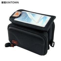 Torba rowerowa Xintown 5.5 Cal torba na telefon komórkowy z ekranem dotykowym torba na rower górski z twardą przednią torbą w Torby i sakwy rowerowe od Sport i rozrywka na