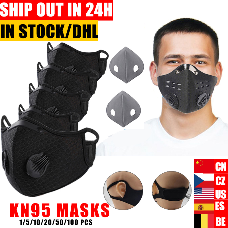 Cycling Face   Mask Filter KN95 Anit-fog Breathable Dustproof Bicycle Respirator Sports Protection Mouth-Muffle Dust Mask Ffp