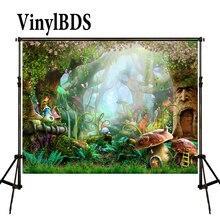 5X7FT ケイト妖精物語子供の写真の背景の写真の背景夢魔法の森の写真スタジオの背景城