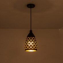 Scaly 할로우 스타일 철 천장 droplight led ceilight 라이트 코드 펜 던 트 램프 거실 레스토랑 계단 조명