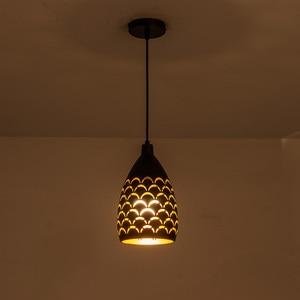 Image 1 - Schilferige Hollow Stijl Ijzer Plafond Droplight Led Ceilight Licht Koord Hanger Lampen Voor Woonkamer Restaurant Stairway Verlichting