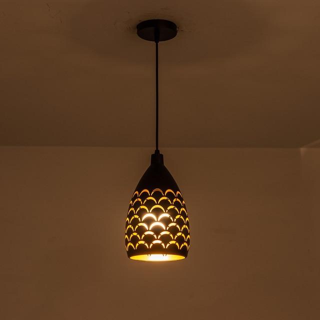 Schilferige Hollow Stijl Ijzer Plafond Droplight Led Ceilight Licht Koord Hanger Lampen Voor Woonkamer Restaurant Stairway Verlichting
