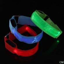 1 шт. Зарядка светоотражающие ремешки безопасность мигание повязка пояс светящийся браслет предупреждение свет ремешок для ночи бега ходьбы