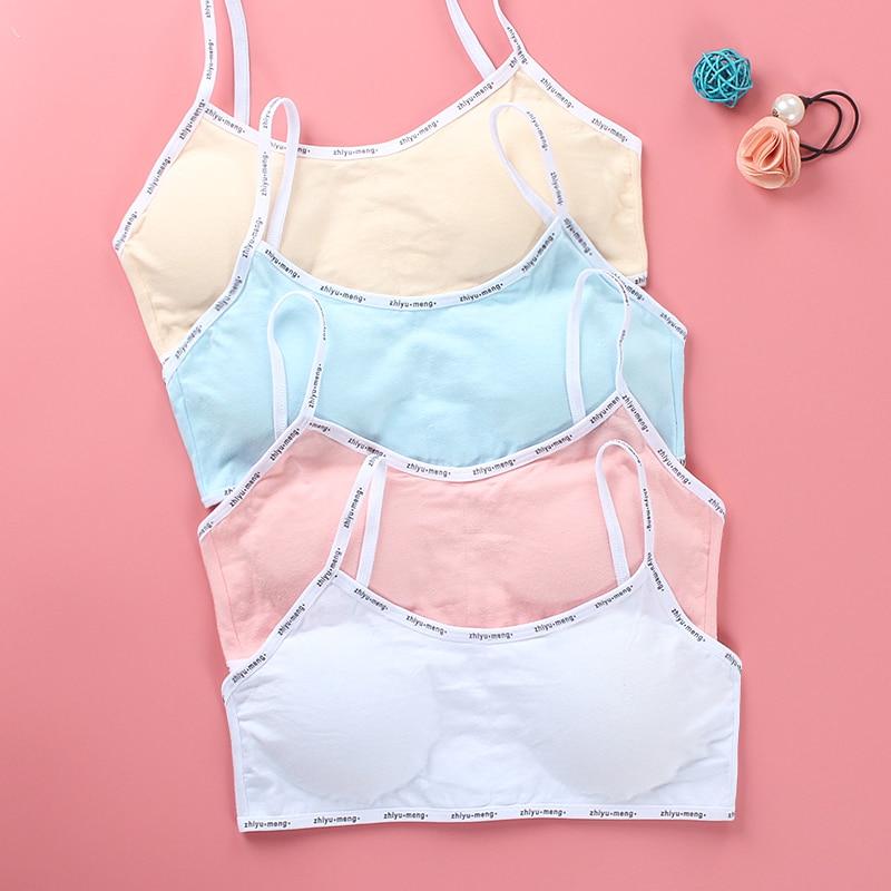 Girls Bra Breathable Teenager Bras for Kids Adolescente Lingerie Solid Color Teen Vest Girls Tube Tops Underwear