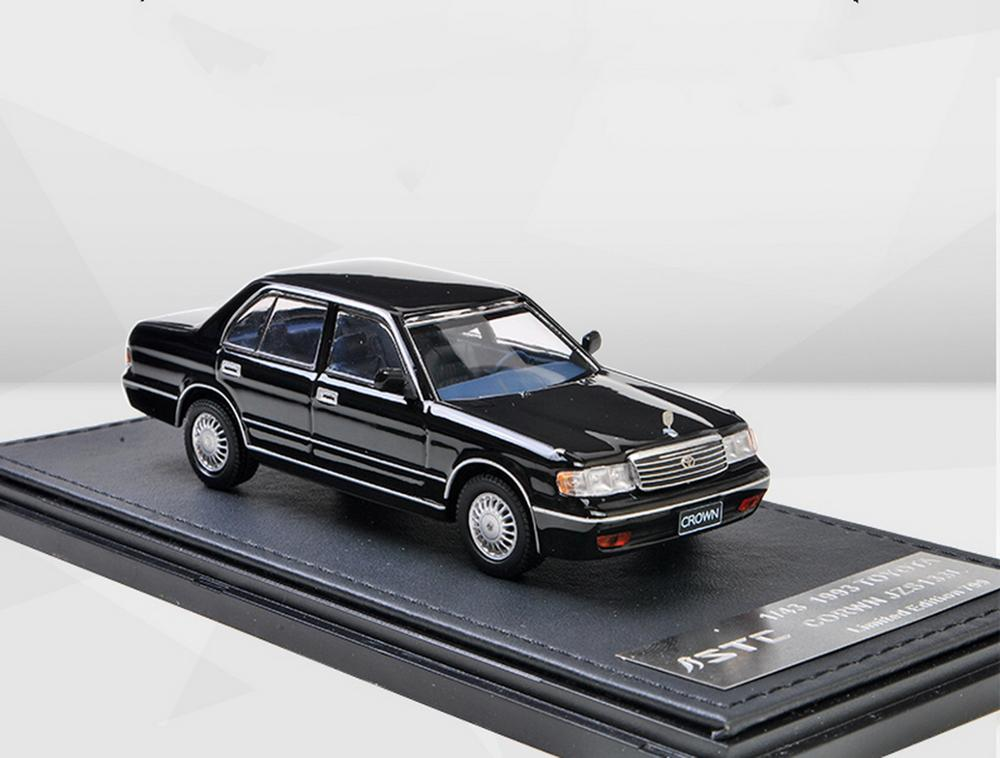 STC 1/43 Scale Toyota Crown JZS133 L 1993 Black Diecast Model Car Toy Collection