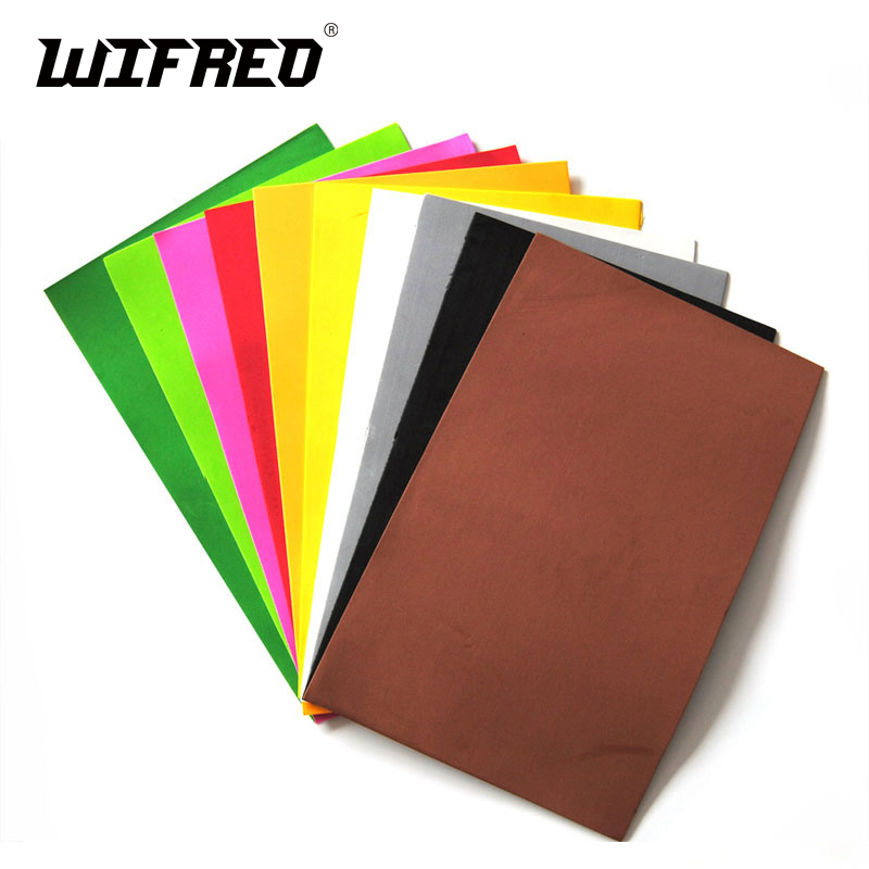 [10PS] L 2mm X 18cm X 24cm Assorted Fly Tying Foam Sheets Paper Grass Hopper Ant  Beetle Caddis Cricket Fly Fishing Material