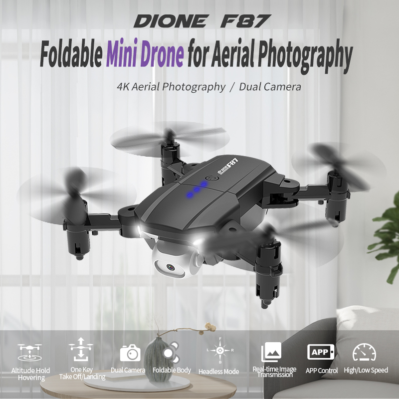 New F87 FPV Drone Quadcopter with Camera Dron Professional 4K Drone Helicopte Height Hold Drone With Nice Gift For People