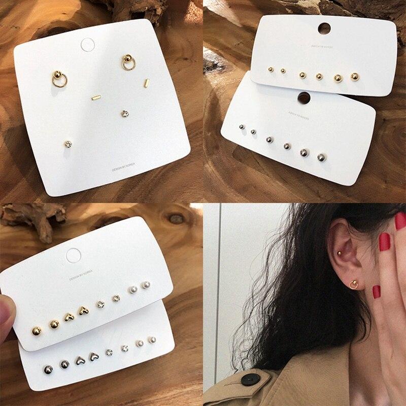 Купить женские металлические серьги гвоздики mengjiqiao новые милые