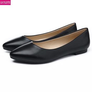 Grandes zapatos de trabajo de las mujeres negro azafata etiqueta entrevista zapatos de las mujeres embarazadas zapatos profesionales de las mujeres