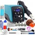 750W 858D hot air gun LED Digital BGA rework Lead-free soldering station SMT desoldering station 220V / 110V Temperature storage
