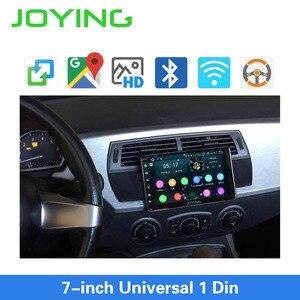 Image 2 - Joying Android 8,1 Авторадио автомобиля 1 один DIN 7 головное устройство HD мультимедиа для стерео Радио автомобильной Bluetooth FM wifi Зеркало Ссылка