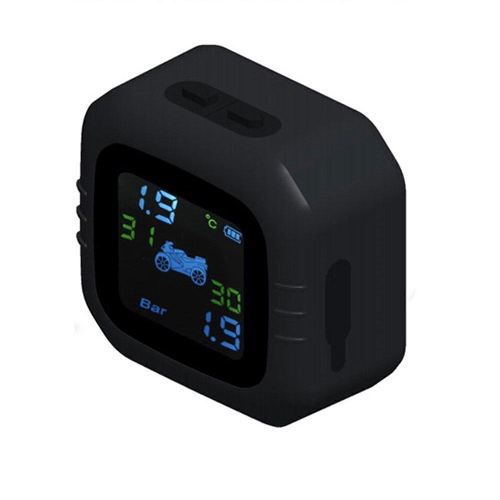 Zeepin Motorcycle TPMS wyświetlacz LCD do ładowania USB w czasie rzeczywistym system monitorowania ciśnienia w oponach motocyklowych z 2 czujnik zewnętrzny