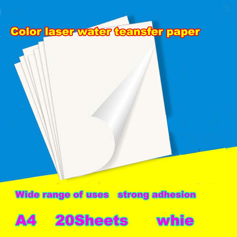 A4size  No Need Coating Oil/spray Laser Clear/transparent Water Slide Waterslide Decal Paper Color Laser Water Transfer Paper
