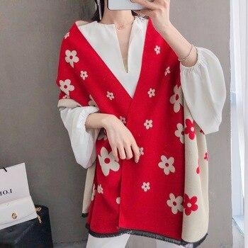 2020 New Women Adult Pashmina Print Woman Winter Fashion Female Shawls Cashmere Wraps Hijab Bandana Scarves Foulard Poncho 1