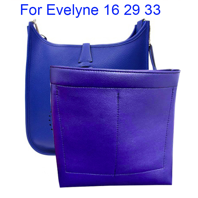 For Evelyne 16 29 33 Purse Organizer Insert Bag Multi-Pocket Handbag Shaper - Premium Super Fiber Leather (Handmade/20 Colors)