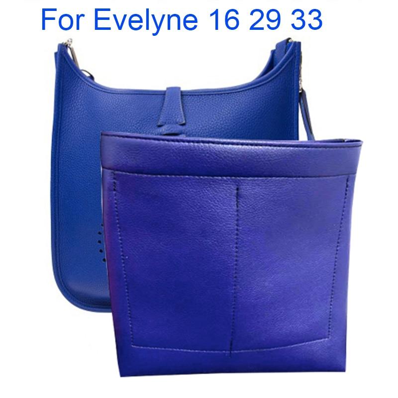 For Evelyne 16 29 33 Purse Organizer Insert Bag Multi-Pocket Handbag Shaper - Premium Super Fiber Leather (Handmade/20 Colors)