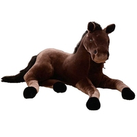 Dorimytrader 51'' Giant Soft Plush Animal Horse Toy Big Lifelike Stuffed Horse 130cm 4 Colors Good Simulation Gift