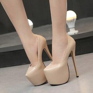 Women's high heels pumps pole dancing party wedding dress shoes super high heels 18 cm large size catwalk